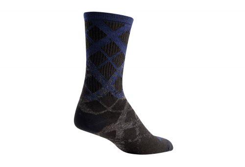 "Sock Guy Wool Crew 6"" Fade Socks - black/blue/grey, l/xl"