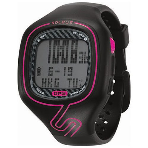 Soleus GPS Vibe Black/Pink: Soleus GPS Watches