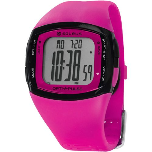Soleus Pulse Rhythm Heart Rate Monitor Pink: Soleus Heart Rate Monitors