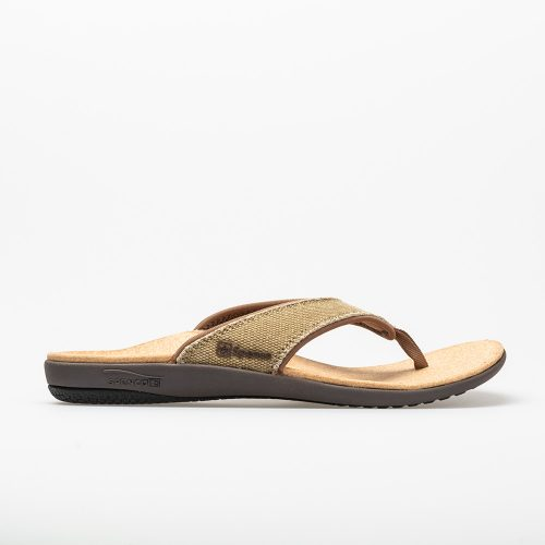 Spenco Yumi Canvas: Spenco Men's Sandals & Slides Straw/Java Cork