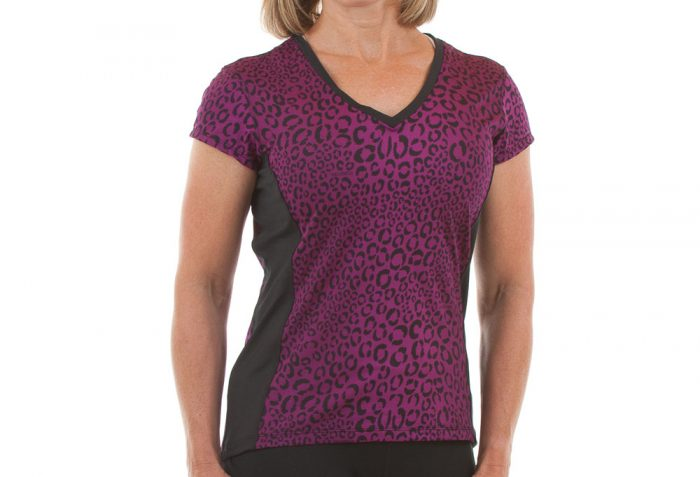 Sturdy Girl Manhattan Tech Tee - Womens - deep orchid/leopard, xsmall
