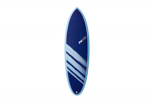 Surftech NSP 04 Cocomat Hybrid Short Surf VC 6'2 Surfboard - blue, one size