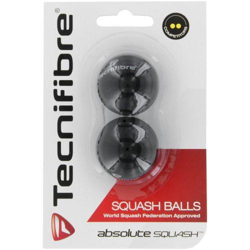 Tecnifibre Double Yellow Squash Balls 2 Pack: Tecnifibre Squash Balls