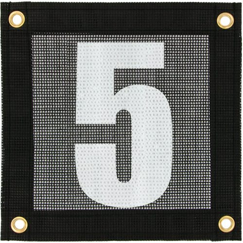 Tennis Court Numbers - Mesh: Tourna Court Equipt