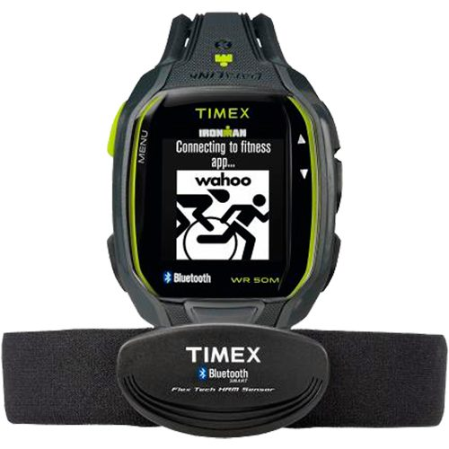 Timex IRONMAN Run x50+ HRM Charcoal/Lime: Timex Heart Rate Monitors