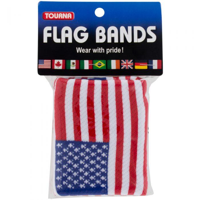 Tourna Flag Wrist Band: Tourna Sweat Bands