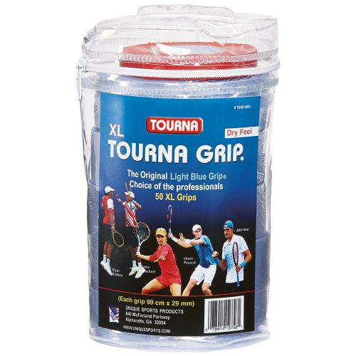 Tourna Grip XL Overgrips 50 Pack: Tourna Tennis Overgrips