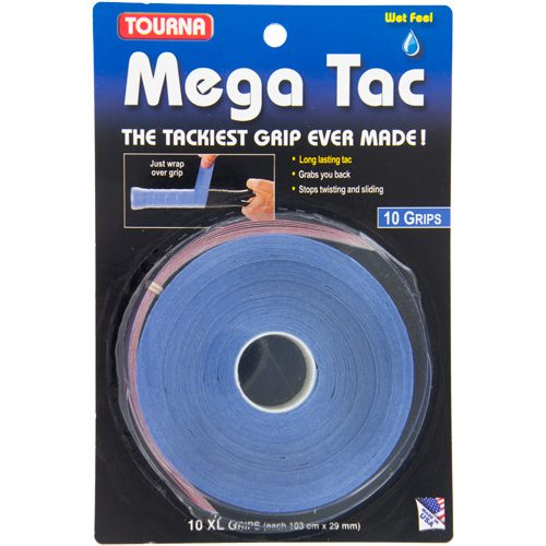 Tourna Mega Tac Overgrips 10 Pack: Tourna Tennis Overgrips