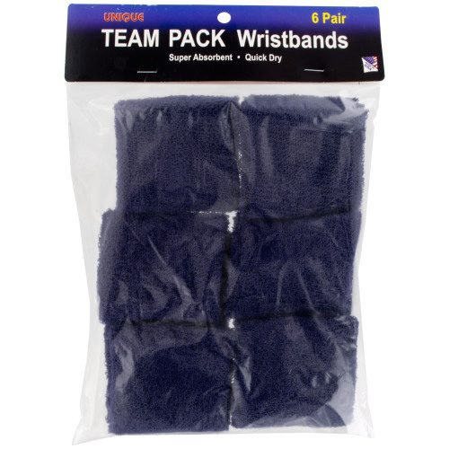 Tourna Team Pack Wristbands (6 Pairs): Tourna Sweat Bands