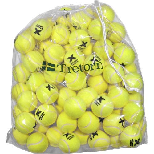 Tretorn Micro-X Pressureless Bag of 72 Yellow Tennis Balls: Tretorn Tennis Balls