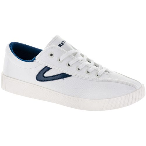 Tretorn Nylite Canvas: Tretorn Women's Tennis Shoes White/Navy