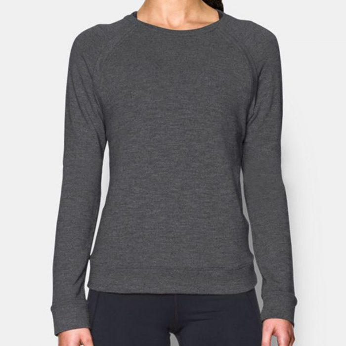 Under Armour Plush Terry Crew Sweatshirt: Under Armour Women's Running Apparel