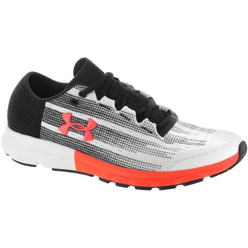 Under Armour SpeedForm Velociti: Under Armour Men's Running Shoes White/Black/Phoenix Fire