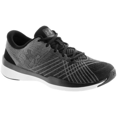 Under Armour Threadborne Push TR: Under Armour Women's Training Shoes Black/Steel/Stealth Gray