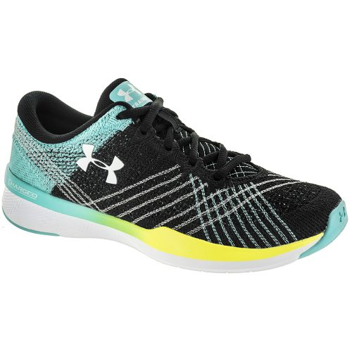 Under Armour Threadborne Push TR: Under Armour Women's Training Shoes Black/Tropical Tide/White