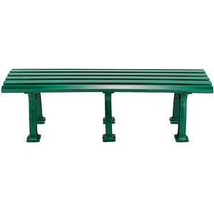 Unique 5' Polyethelene and PVC Bench - Green: Tourna Court Equipt