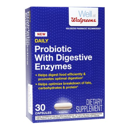 Walgreens Daily Probiotic with Digestive Enzymes, Capsules - 30 ea