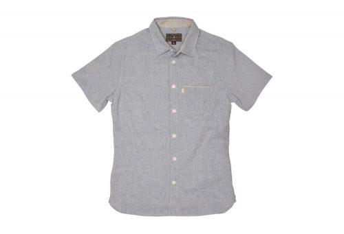 Wilder & Sons Burnside Short Sleeve Button Down Shirt - Men's - light blue, x-large
