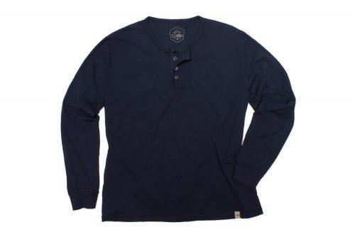 Wilder & Sons Classic Henley Long Sleeve Shirt - Men's - navy, small