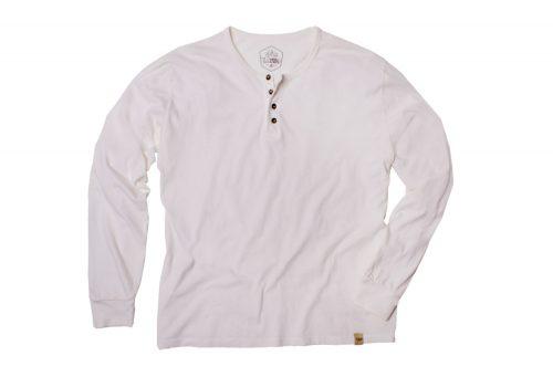 Wilder & Sons Classic Henley Long Sleeve Shirt - Men's - vintage white, small