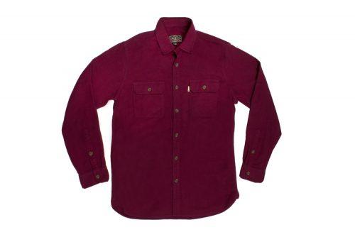 Wilder & Sons Gorge Chamois Shirt - Men's - burgundy/burgundy, x-large