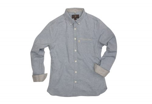 Wilder & Sons Hawthorne Long Sleeve Button Down Shirt - Men's - light blue, large