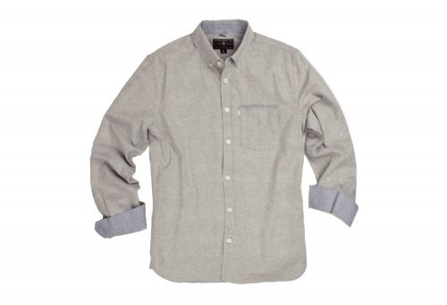 Wilder & Sons Hawthorne Long Sleeve Button Down Shirt - Men's - stone, small