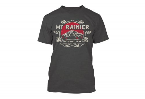 Wilder & Sons Mount Rainier National Park Short Sleeve T-Shirt - Men's - charcoal grey, small