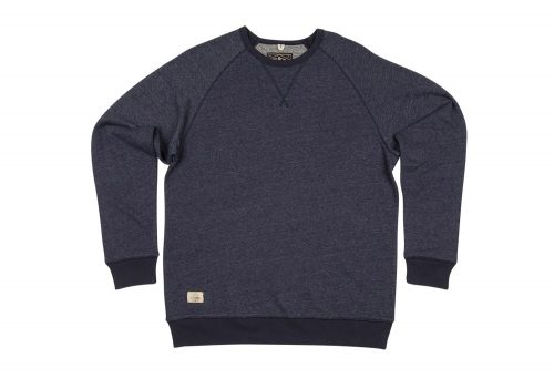 Wilder & Sons Oswald Fleece Crew - Men's - indigo/grey, small