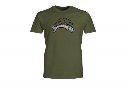 Wilder & Sons PDX Fish Tee - Men's - military green, small