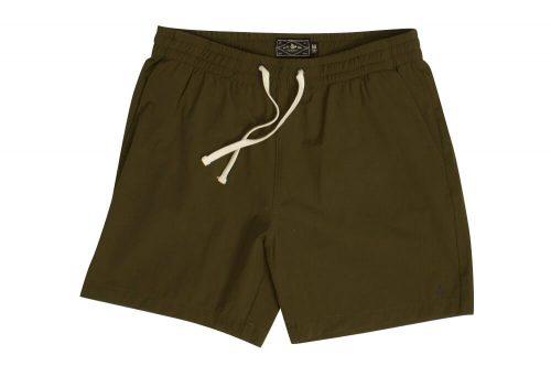 "Wilder & Sons Seaside Volley 6"" Shorts - Men's - dark olive, large"