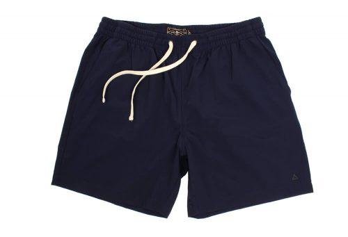 "Wilder & Sons Seaside Volley 6"" Shorts - Men's - navy blue, large"
