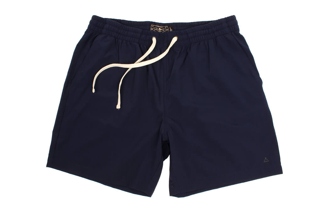 "Wilder & Sons Seaside Volley 6"" Shorts - Men's - navy blue, x-large"