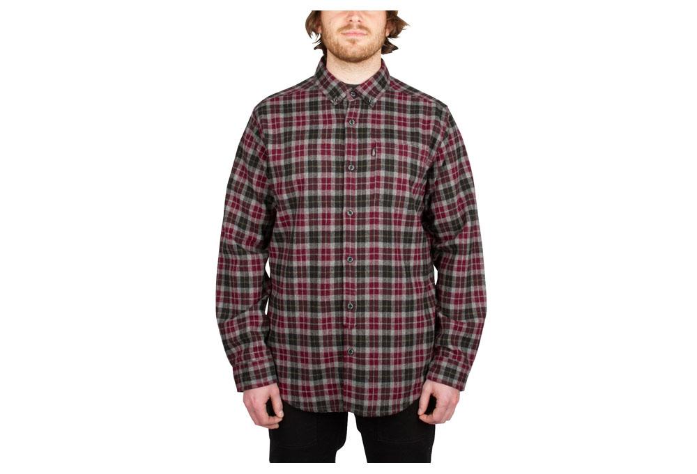 Wilder & Sons Umpqua Flannel - Men's - red, small