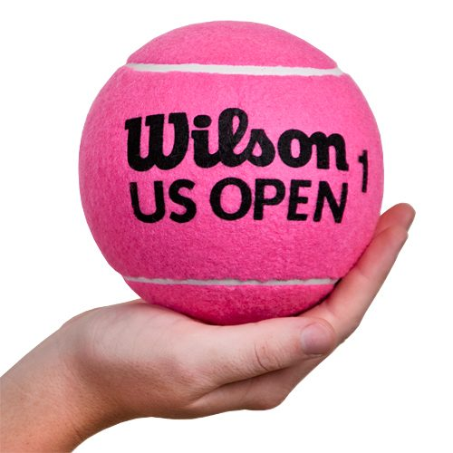 "Wilson 5"" US Open Mini Jumbo Tennis Ball Pink: Wilson Tennis Gifts & Novelties"