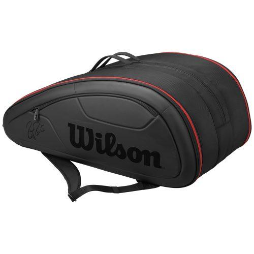 Wilson Federer Super DNA 12 Pack Black: Wilson Tennis Bags