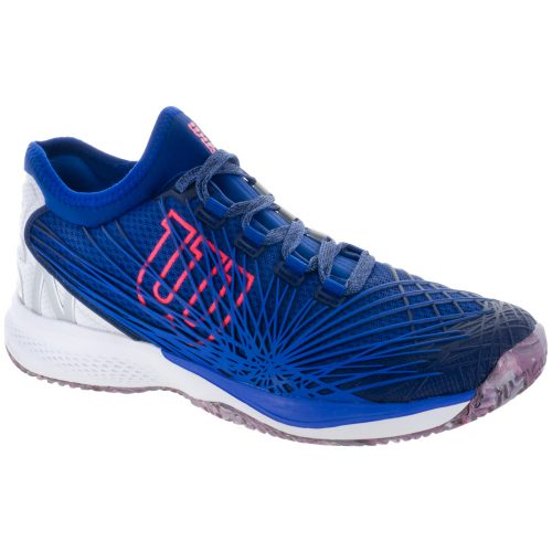 Wilson Kaos 2.0 SFT: Wilson Men's Tennis Shoes Mazarine Blue/White/Neon Red