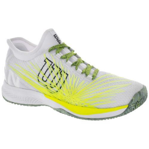 Wilson Kaos 2.0 SFT: Wilson Men's Tennis Shoes White/Safety Yellow/Ebony