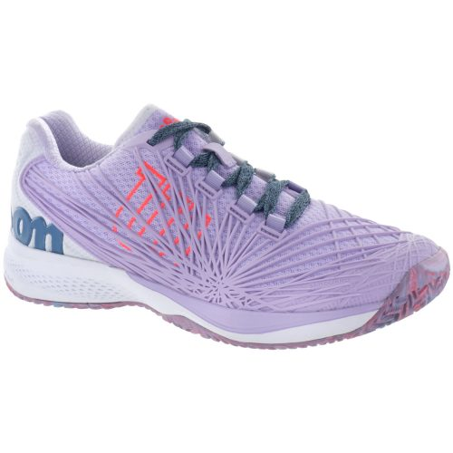 Wilson Kaos 2.0: Wilson Women's Tennis Shoes Lilac/White/Firey Coral