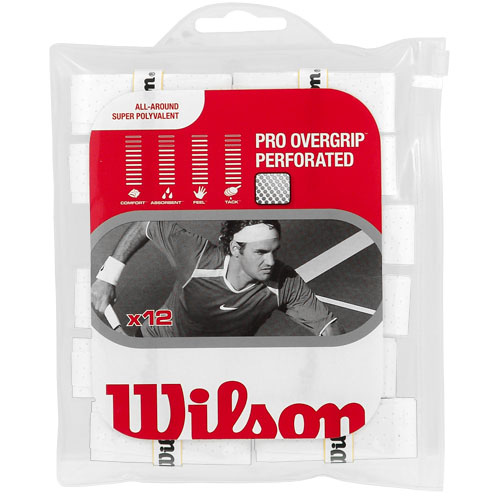 Wilson Pro Overgrip Perforated 12 Pack: Wilson Tennis Overgrips