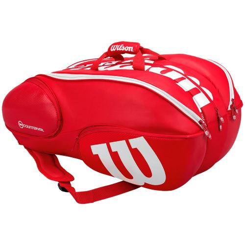 Wilson Pro Staff 15 Pack Bag Red/White: Wilson Tennis Bags