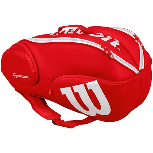 Wilson Pro Staff 9 pack Bag Red/White: Wilson Tennis Bags
