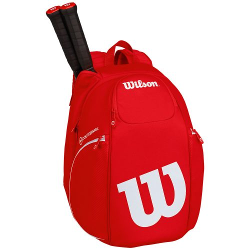 Wilson Pro Staff Backpack Bag Red/White: Wilson Tennis Bags
