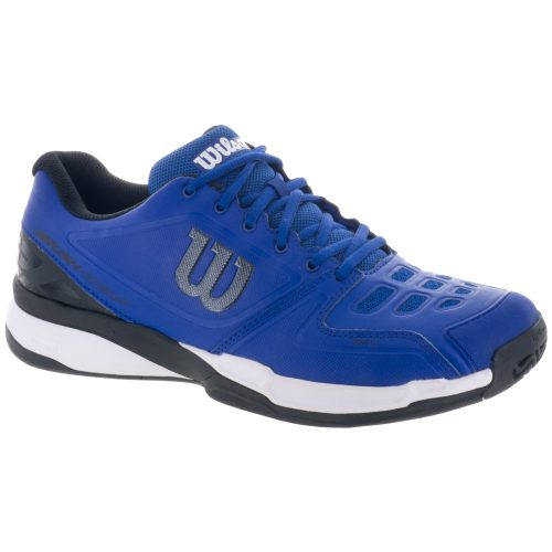 Wilson Rush Comp: Wilson Men's Tennis Shoes Mazarine Blue/Black/White