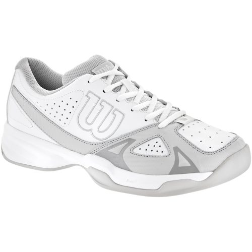 Wilson Rush Open 2.0: Wilson Men's Tennis Shoes White/Steel Gray/Cool Gray