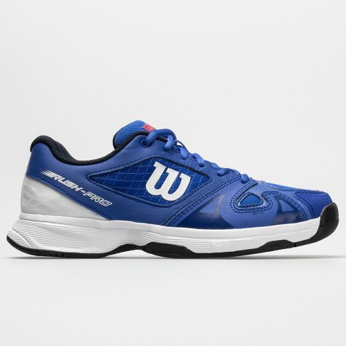 Wilson Rush Pro 2.5 Junior Dazzling Blue/White/Neon Red: Wilson Junior Tennis Shoes