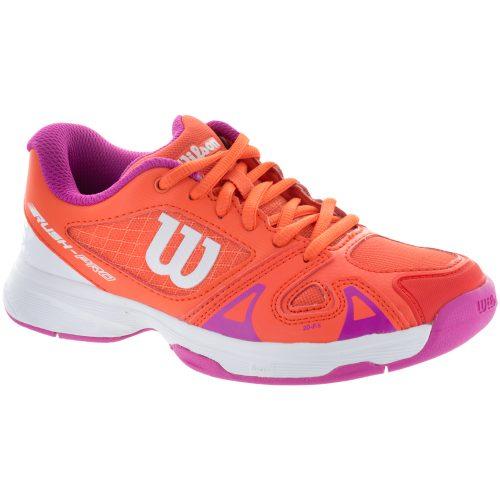 Wilson Rush Pro 2.5 Junior Nasturtium/White/Rose Violet 2017: Wilson Junior Tennis Shoes