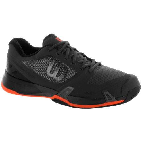 Wilson Rush Pro 2.5: Wilson Men's Tennis Shoes Magnet/Black/Shocking Orange
