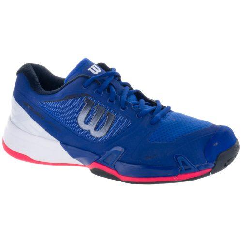Wilson Rush Pro 2.5: Wilson Men's Tennis Shoes Mazarine Blue/White/Neon Red