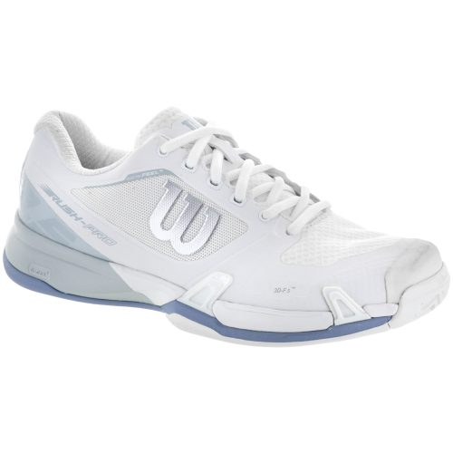 Wilson Rush Pro 2.5: Wilson Women's Tennis Shoes White/Pearl Blue/Stonewash